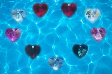 love colors crystal heart