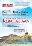 Tabligh Akbar Syaikh Prof. DR. Abdur Rozzaq bin Abdul Muhsin Al Badr hafidzahullah di Masjid Istiqlal